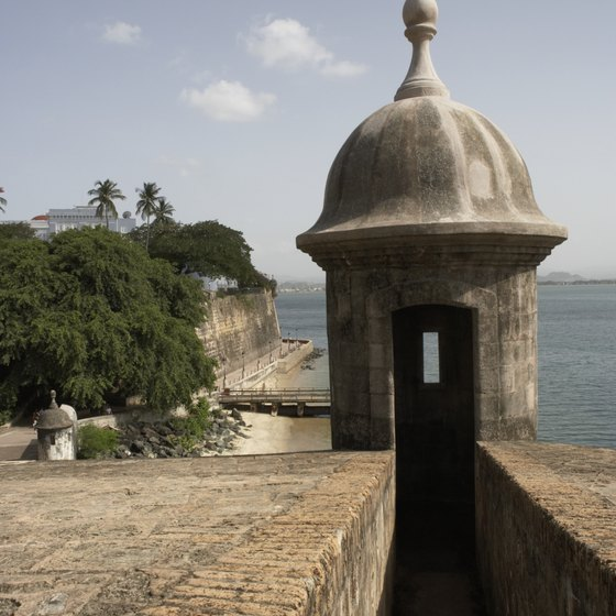 Colonial fortresses and ocean views greet visitors to San Juan.