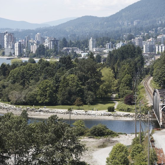 Vancouver is situated alongside both the mountains and the sea.