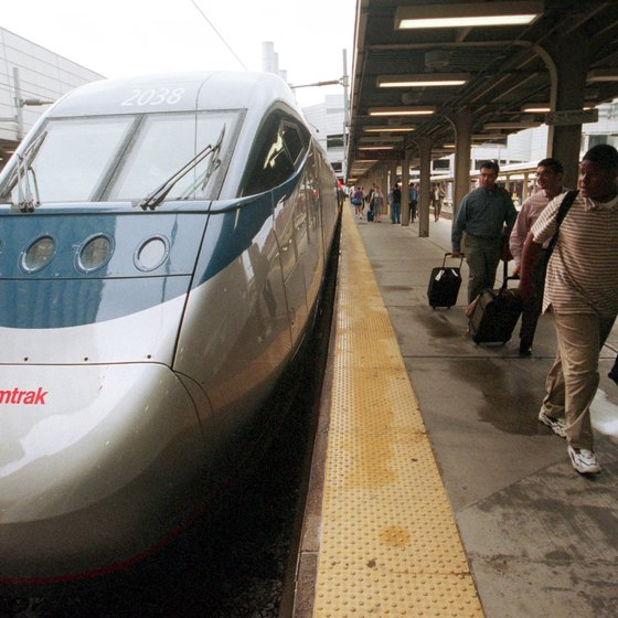 Amtrak's Acela trains reach speeds up tp 150 mph.