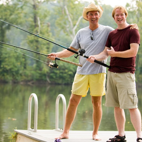 Go fishing at an RV park in southeast Tennessee.