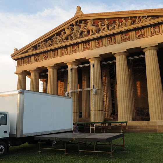 The centerpiece of Centennial Park is a full-scale replica of Athens' Parthenon.