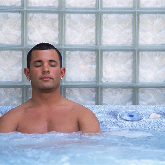Wash away tension and sore muscles in a whirlpool tub.