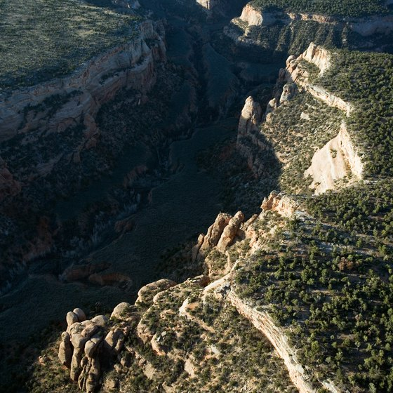 Colorado National Monument has canyons and steep hiking trails.