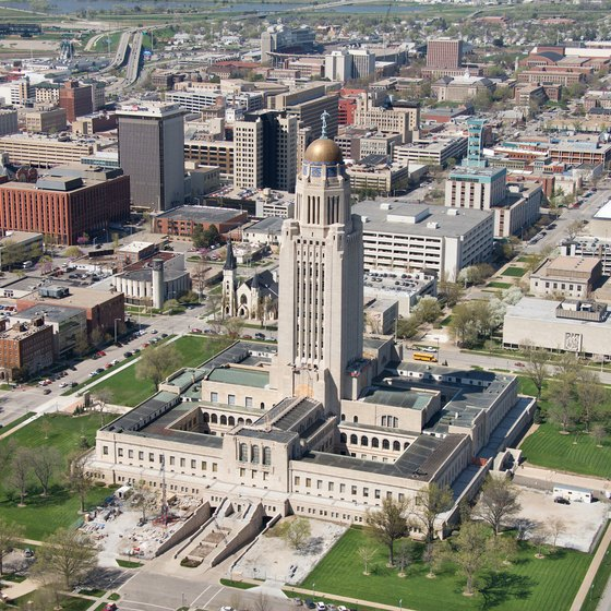 Lincoln is home to Nebraska's imposing state Capitol building.