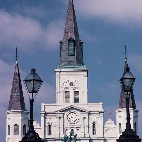 St. Louis Cathedral is easily recognized.