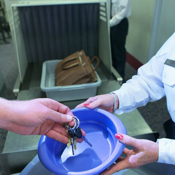 Remove keys and other metal items to expedite your way through security.