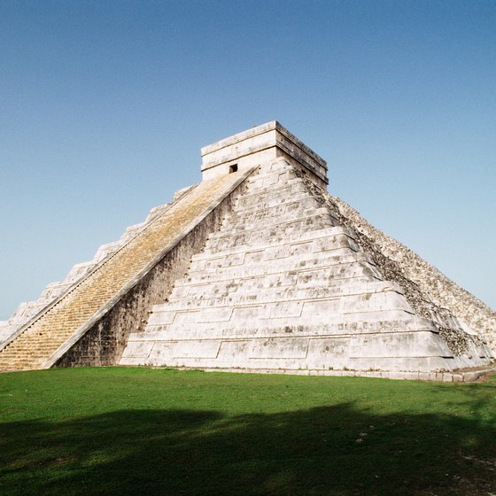 Many tourists visit Chichen Itza for a glimpse at the pyramid.