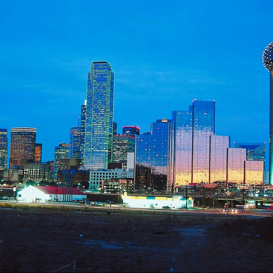 Downtown Dallas is home to many ballrooms that offer a view of the city skyline.