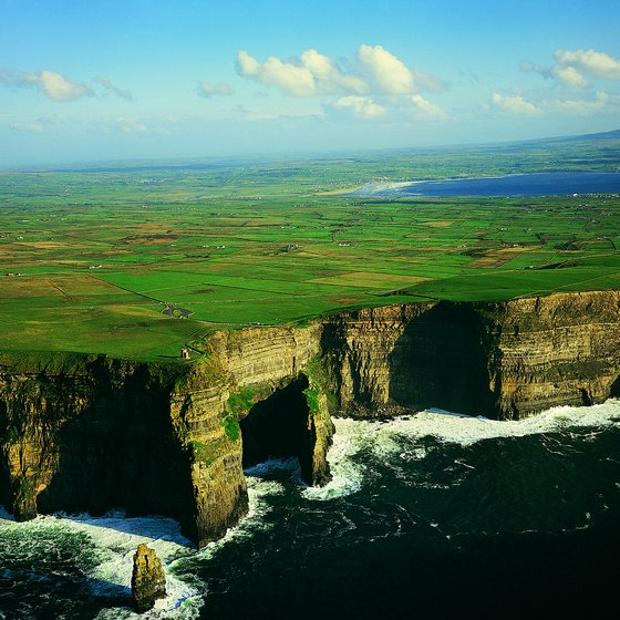 The Cliffs of Moher is a frequent stop for vacationers in Ireland.