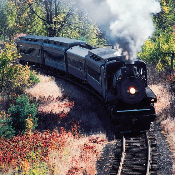 Ride an antique steam locomotive in West Virginia.