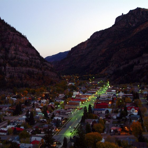 Ouray, in southwestern Colorado, is tucked into a high valley among towering peaks.