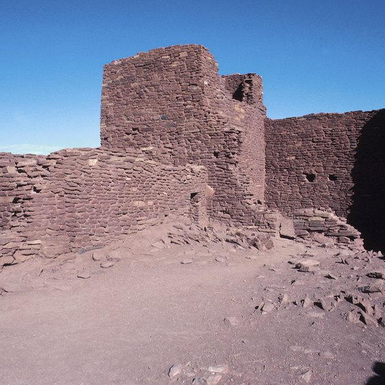 Explore the ruins of the Wupatki Pueblo near Flagstaff, Arizona.
