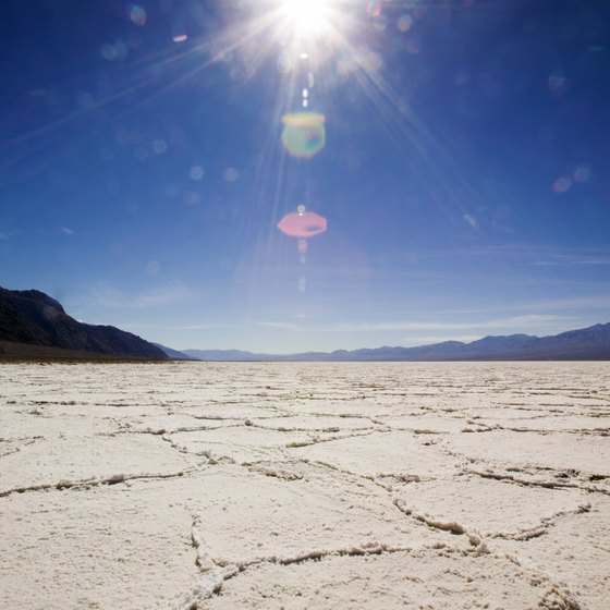 Wendover's main attraction: the Bonneville Salt Flats.