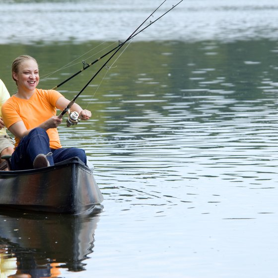 All types of on-the-water activities are available near Trinity, Texas.