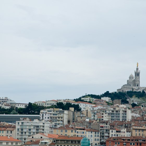 Marseille's Notre Dame de la Garde stands out over the rest of the city.