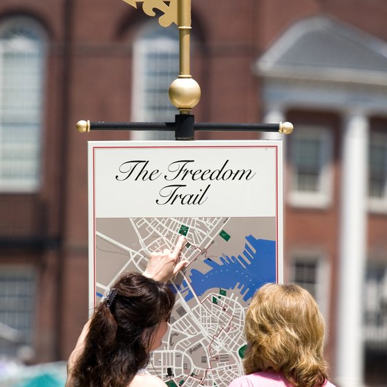 The Freedom Trail connects 16 significant historic landmarks throughout greater Boston.