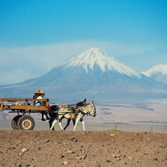 Chile's Atacama Desert fronts the snow-capped peaks of the Andes.