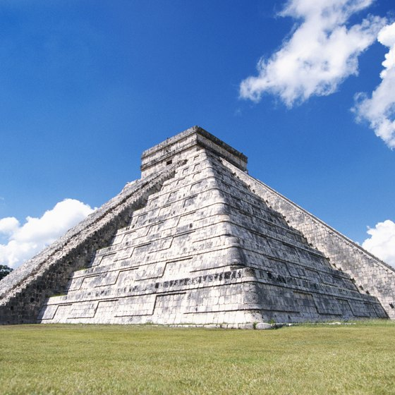 Chichen Itza is one of the most famous ancient Mayan landmarks.