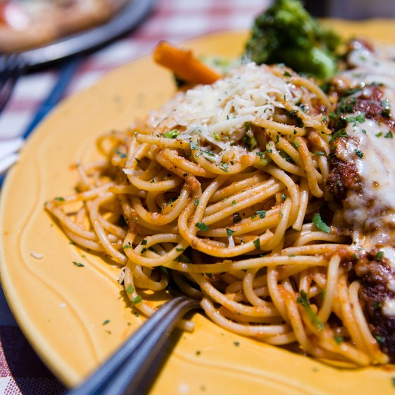 Feast on authentic Italian cuisine along West 46th Street in New York City.