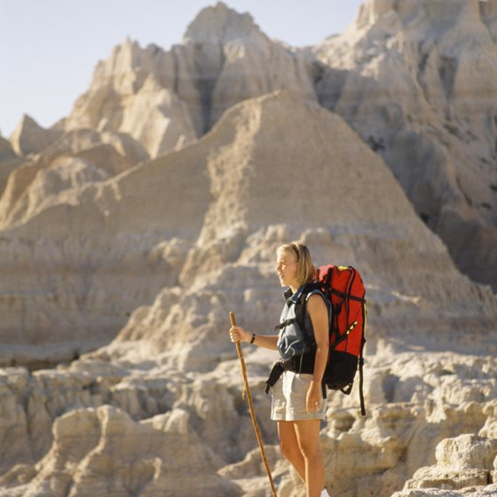 Hiking is just one activity in Badlands National Park.