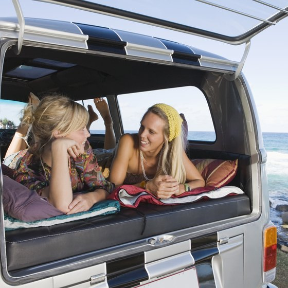 Rent a camper van and wake up with the beach in your backyard.
