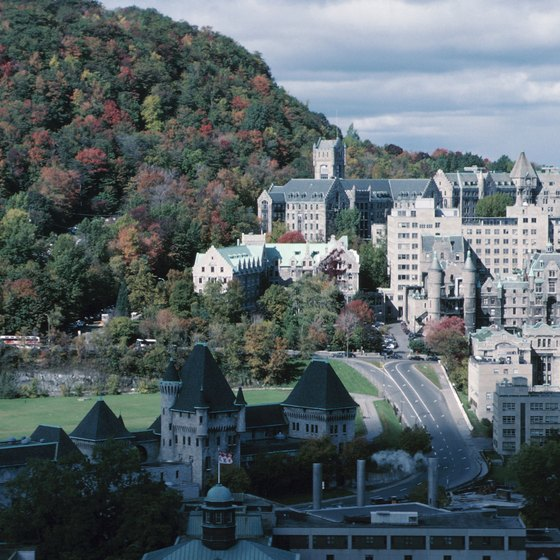 Quebec City is lovely to visit in fall or any season.