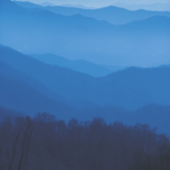 The well-watered Great Smoky Mountains are full of deep ravines and canyons.