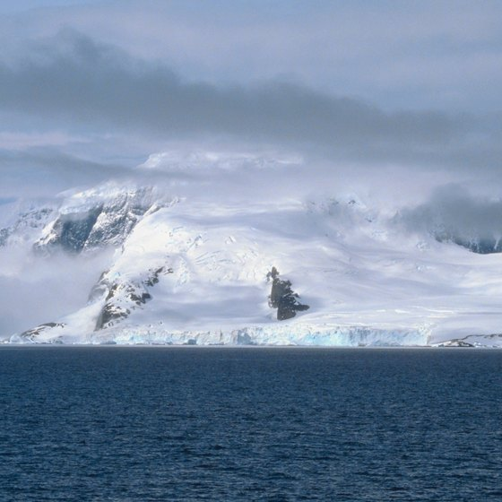 A camera allows you to capture images of Antarctica's scenery.
