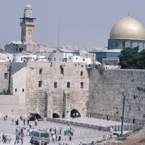 Jerusalem's Western Wall, the remains of the Second Temple, is veneered by Jews around the world.