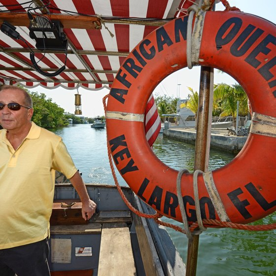 Key Largo is home to the African Queen, a boat featured in the Humphrey Bogart movie of the same name.