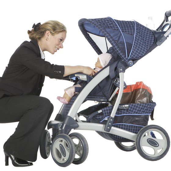 Umbrella strollers allow for storage of carry-on items in various compartments.