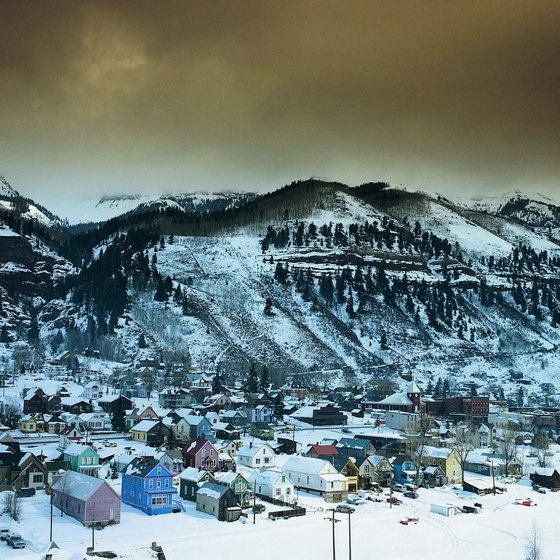 Telluride, Colorado, during winter.
