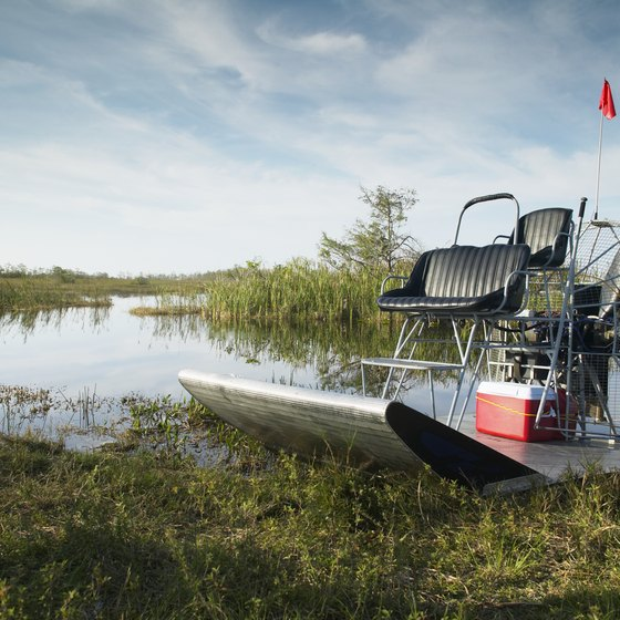 Smaller airboats are more maneuverable through the River of Grass.