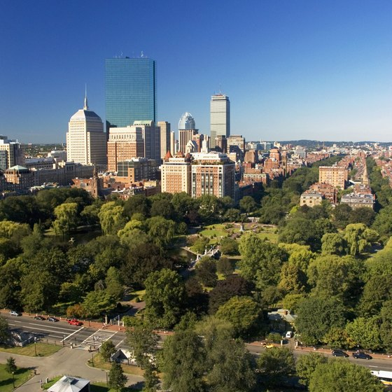 Boston Common is located about a mile away from the Copley Square Hotel and is the oldest park in the U.S.