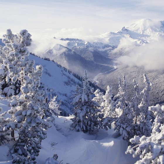 The mountains of Washington State offer plenty of snowboarding fun.