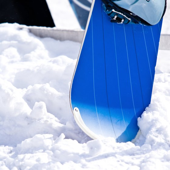 Protect your snowboard with a lock.