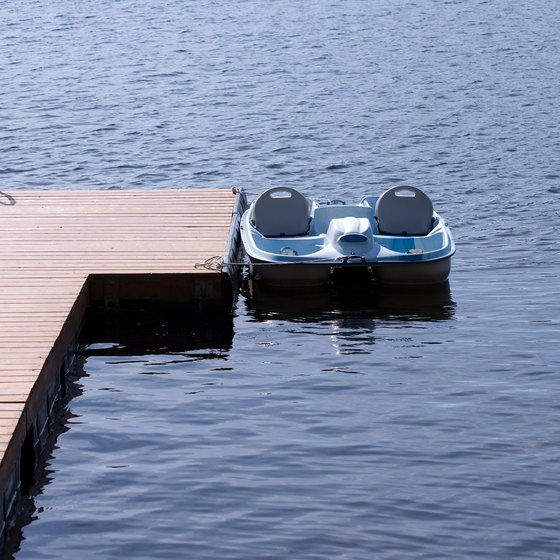 Park-goers often use paddleboats on Paw Paw's Maple Lake.