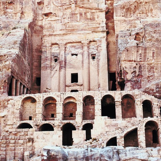 Petra, one of the most-visited tourist destinations in Jordan.