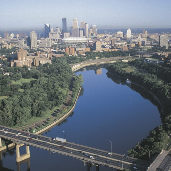 You can explore Minneapolis from the mighty Mississippi River.