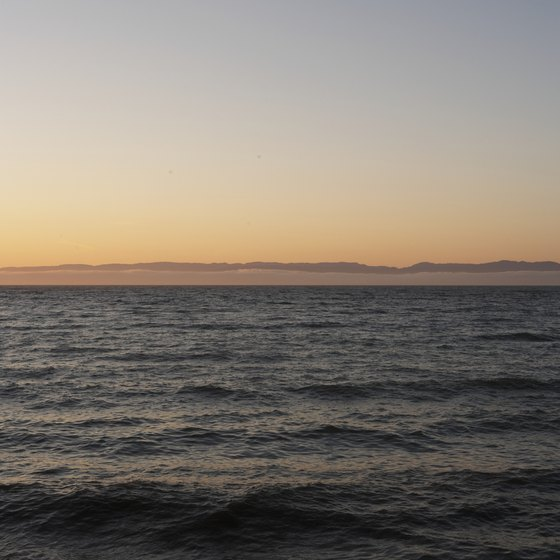The strait of Juan de Fuca touches the far northwest tip of the contiguous United States.