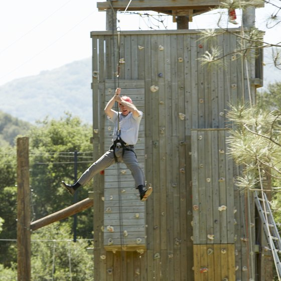 Zip Lines Vary In Length And Height