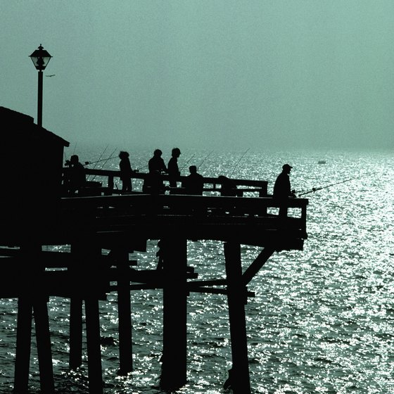 Redondo Beach Pier is one of Southern California's 24-hour pier fishing locations.