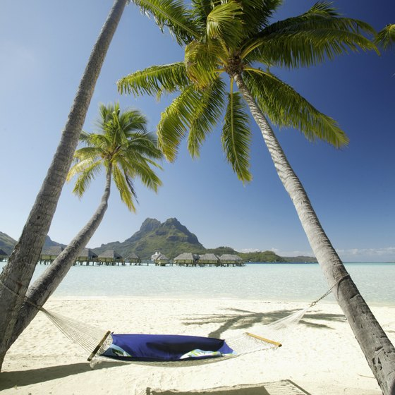Pitch your tent at a private campground on Bora Bora.