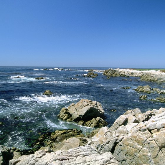 The rocky coastline near Carmel, California