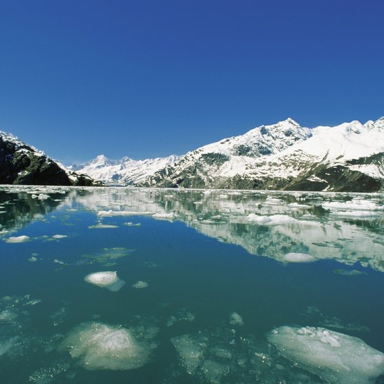 Glacier Bay gives views of massive glaciers.