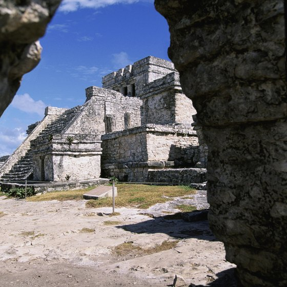 Mayan ruins at Tulum, Mexico.