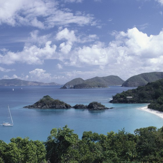 Trunk Bay is on St. John, U.S. Virgin Islands.