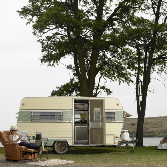 Once you level your trailer, relax and enjoy the great outdoors.
