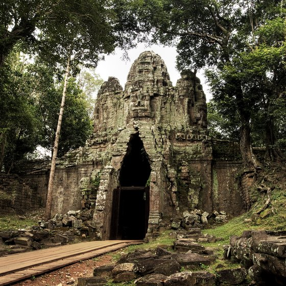 Angkor Wat is dominated by its jungle climate.