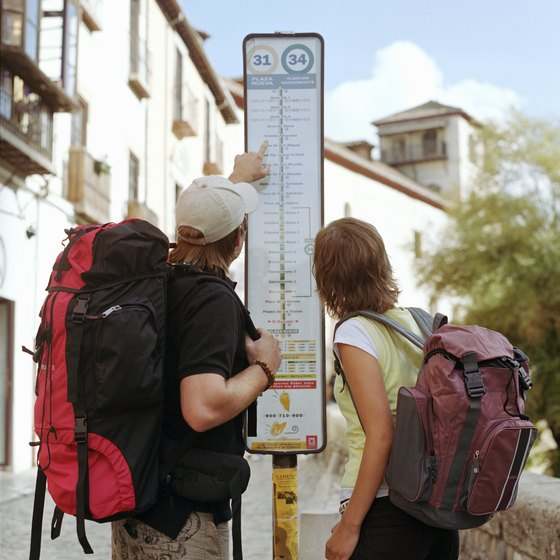 A travel backpack can hold several months' worth of supplies.
